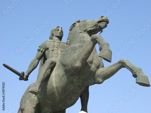 alexander der grosse statue Canvas Print