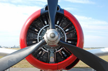 Front View Of Retro Airplane Propeller
