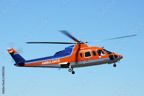 Tuinposter Helicopter air ambulance