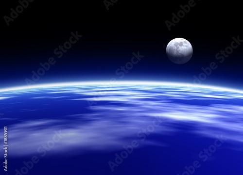 einzelne bedruckte Lamellen - earth and moon (von Murat BAYSAN)