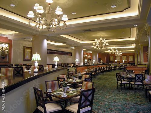 Tuinposter Restaurant luxury hotel restaurant