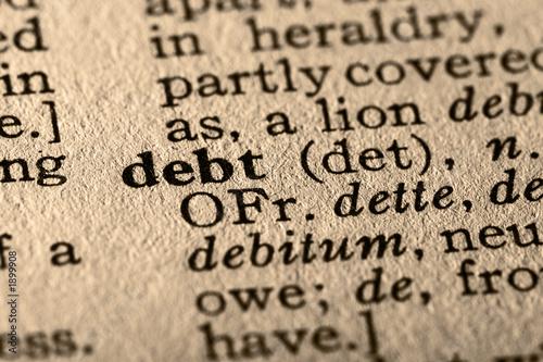 Fototapety, obrazy: the word debt