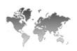 monde et continents en noir et blanc, ocean blanc