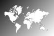 continents en blanc sur fond noir et blanc