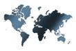 continents en dégradé bleu foncé sur fond blanc