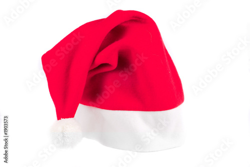 christmas hat on white background Canvas Print