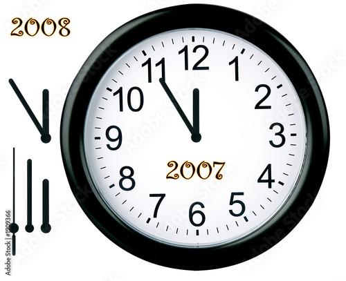 Fotografie, Obraz  happy new year - clock isolated