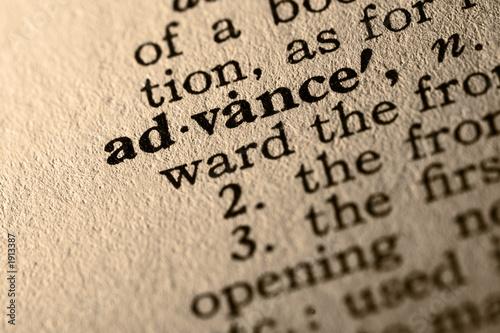 Fototapety, obrazy: the word advance