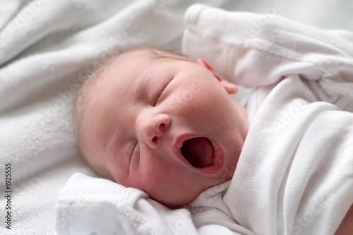 sleeping baby yawning Poster