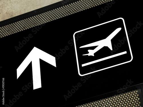 Foto op Aluminium Luchthaven airport signs - departures area