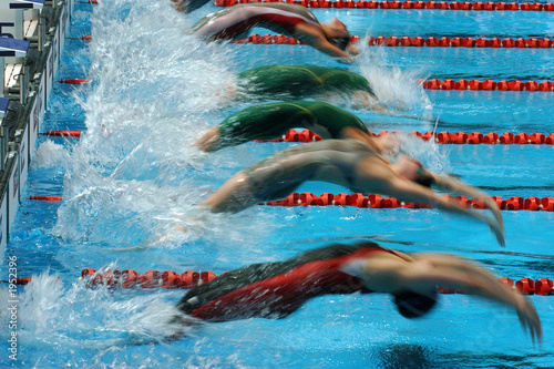 Fotografía  backstroke start