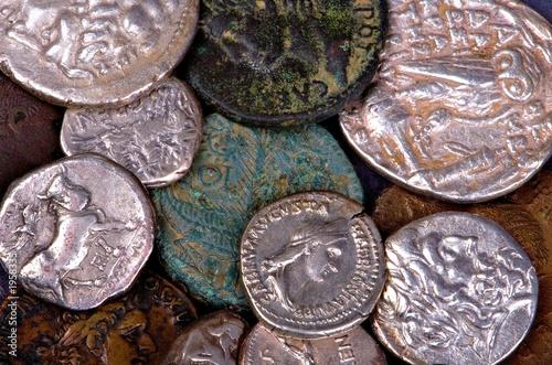 ancient roman and greek coins Wallpaper Mural