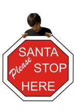 Young Man Santa Stop