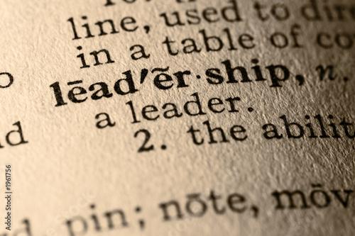 Fotografie, Obraz  the word leadership