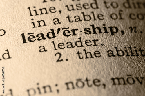 Fotografia, Obraz  the word leadership