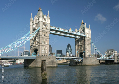 tower bridge with city of london