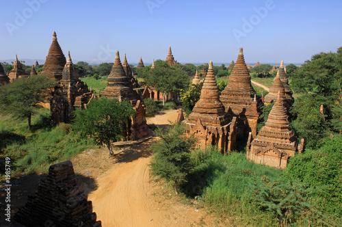 Photo  myanmar, bagan: general panorama
