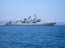 Large Warship On Harbour Raid