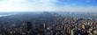 aerial panoramic view over lower manhattan, new yo