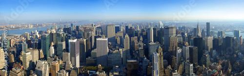 Foto op Aluminium New York aerial panoramic view over manhattan, new york