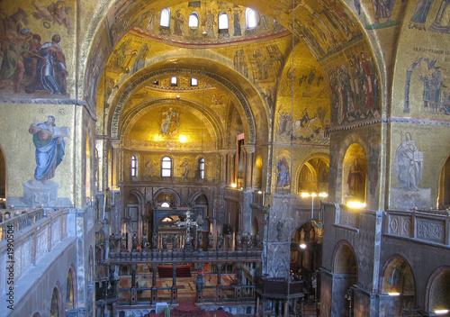 interior de la basílica de sam marco, venecia Canvas Print