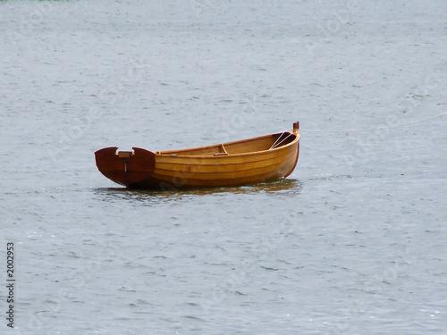 Canvas Print empty rowboat