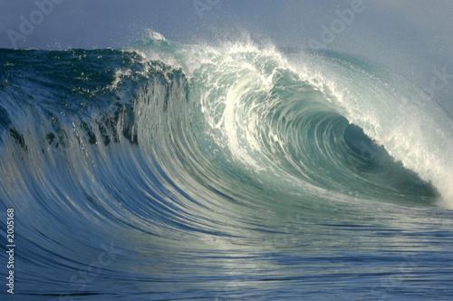 Deurstickers Water perfect breaking wave