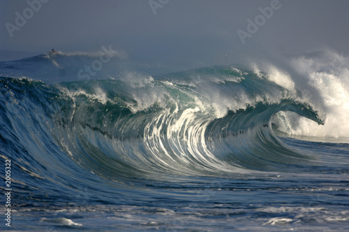 Deurstickers Water wave
