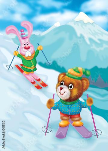 Foto-Plissee - skiing (von sadik ucok)