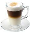 isolated coffe with milk or latte macchiatto