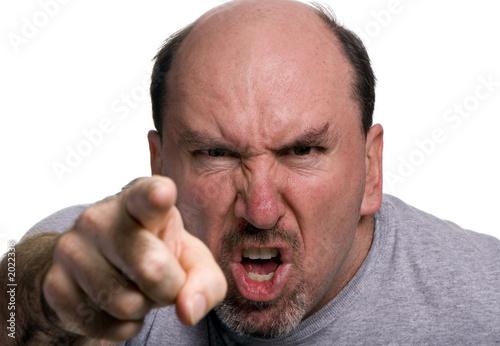 Obraz na płótnie anger