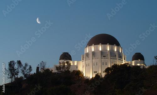 griffith park observatory at night Billede på lærred