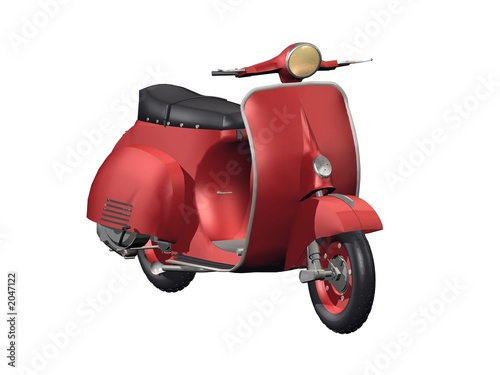 Deurstickers Fiets vintage moto scooter