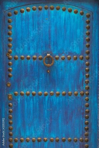 Recess Fitting Morocco wooden blue door