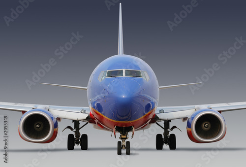 Photo southwest airlines airplane with clipping path