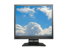 Isolated Lcd With Sky