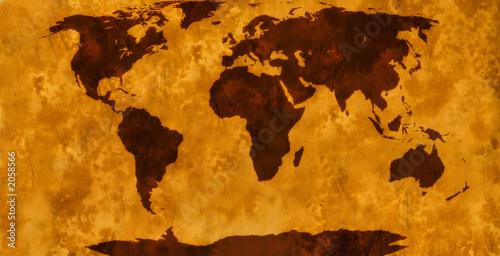 world map – vintage