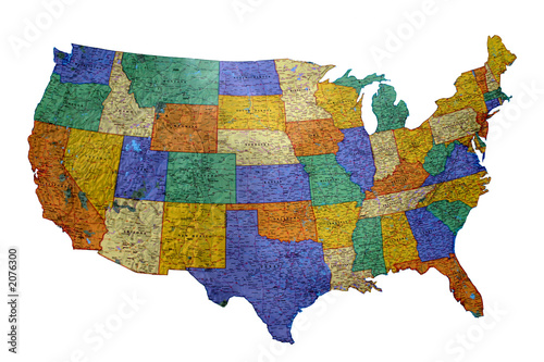 us map Canvas Print