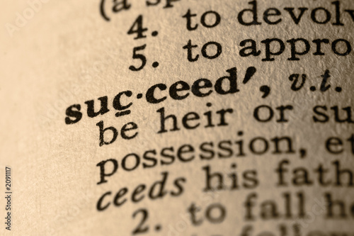 Fototapety, obrazy: the word succeed