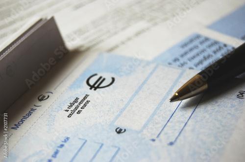 Photo chèque de banque