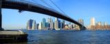 Most brooklyński w dolnym Manhattanie -Nowy Jork