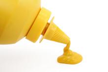 A Bottle Of Yellow Mustard