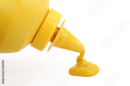 a bottle of yellow mustard Fototapet