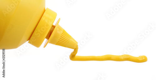 Tablou Canvas a bottle of yellow mustard