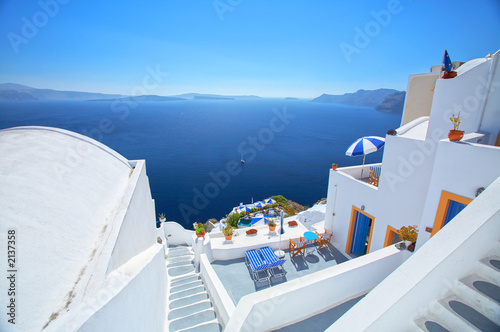 Papiers peints Santorini deep blue from santorini