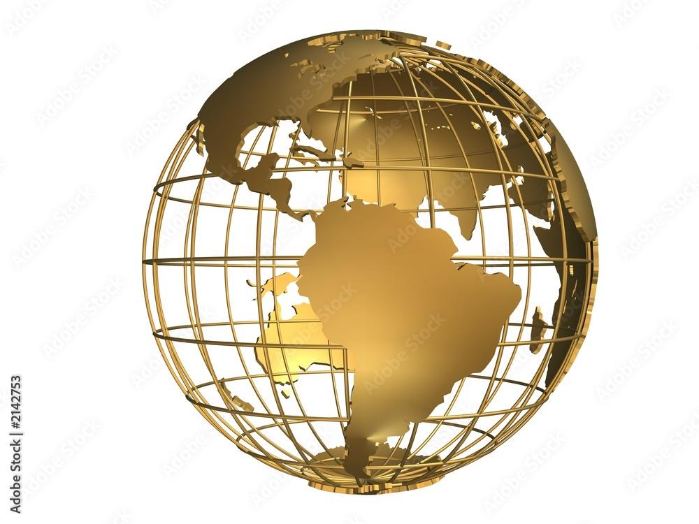 Fototapety, obrazy: goldener globus