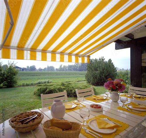 Fotografie, Obraz  store exterieur de terrasse