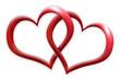 canvas print picture - doppelherz - two hearts
