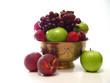 bowl of fruit on white