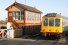 Dmu Train And Signal Box